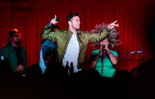 Andy Grammer performs in Rec Room on Saturday, Oct. 14. The sold-out show was in the venue's grand opening weekend. (Jordan Oscar/Special to The News)
