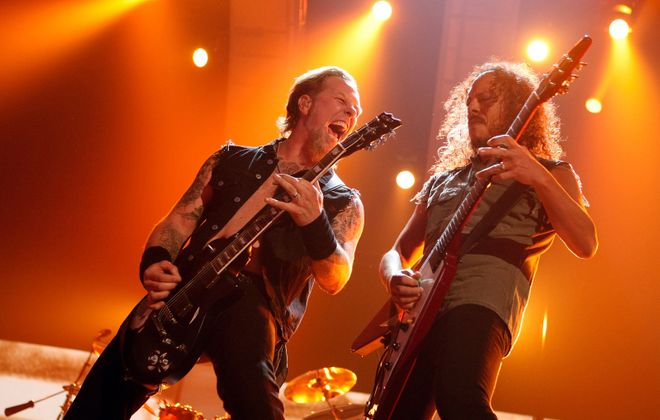 """Metallica's """"serious riffage"""" will be on display in Buffalo this weekend. (Getty Images)"""