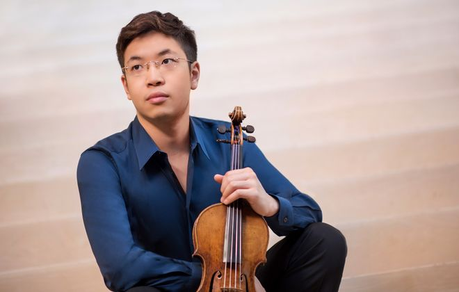 Violinist Paul Huang gave an expressive performance of Samuel Barber's Violin Concerto with the Buffalo Philharmonic Orchestra. (Photo by Carlin Ma)