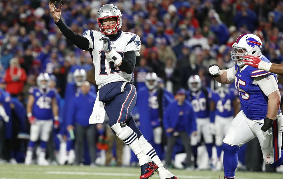 The Bills will need to pressure Patriots quarterback Tom Brady on Sunday. (Harry Scull Jr./Buffalo News)