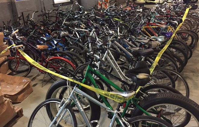 Processing of the 88 stolen bikes may take up to two months, Buffalo Police said. (Keith McShea/Buffalo News)