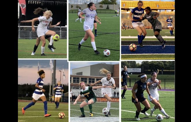 Buffalo-area women's college soccer programs are in the thick of their playoff pushes. Who's clinched? Who's eliminated? Who's still fighting for a place? (Photos by Ben Tsujimoto/Buffalo News)