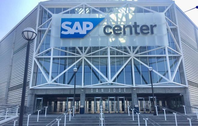 "Game 3 of the Sabres' Western road trip is at SAP Center in San Jose, commonly called the ""Shark Tank."" (Mike Harrington/Buffalo News)"
