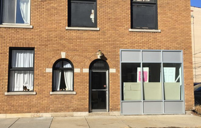 The space facing Norwalk Avenue that will become Taste doesn't have a sign yet. (Andrew Galarneau/Buffalo News)
