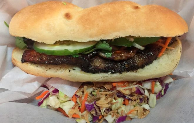 Pork belly num pang sandwich at Yey's Cafe, which announced its closing on Sunday. (Andrew Galarneau/News file photo)