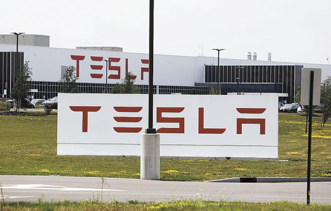The company said last summer there were around 800 people working at the South Park Avenue plant, either for Tesla or its partner, Panasonic. (News file photo)