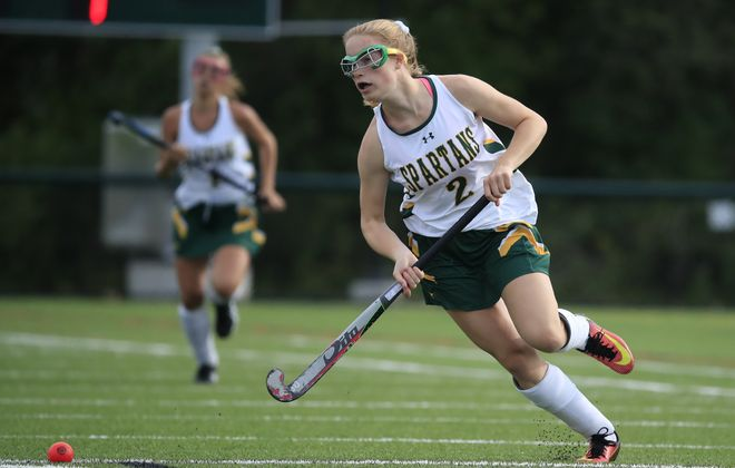 Williamsville North's Emma Roland is one of five players on the Spartans who have amassed at least 10 goals this season. (Harry Scull Jr./ Buffalo News)