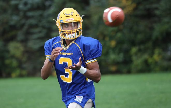 Lockport High senior Malik Brooks will play football at Monmouth University in New Jersey in the fall. He originally committed to UB but signed with Monmouth on Wednesday. (Sharon Cantillon/News file photo)