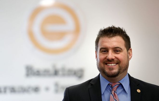 Randy Glenn of the Evans Agency has developed a specialty in cyber threats.(Mark Mulville/Buffalo News)