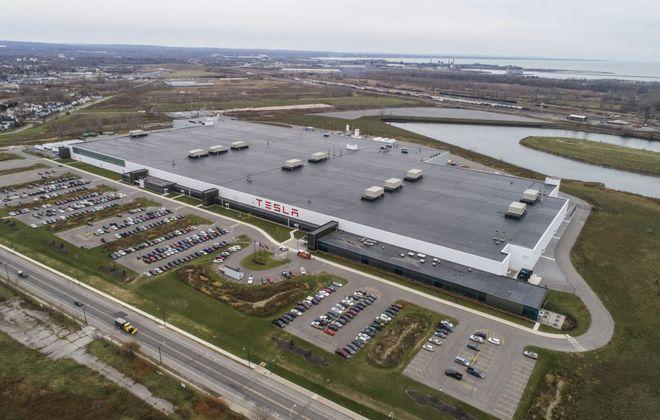 The Tesla factory at RiverBend. (Derek Gee/News file photo)