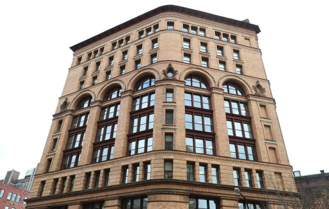 The renaissance revival-style building was the first steel-framed skyscraper in Buffalo. It was named after R.G. Dun and Co., a pioneer in the business of rating the credit of prospective borrowers. The firm later became part of Dun & Bradstreet. (Sharon Cantillon/Buffalo News)