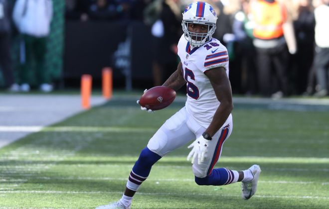 Bills receiver Robert Foster is in the lineup Thursday against Dallas. (James P. McCoy/ News file photo)