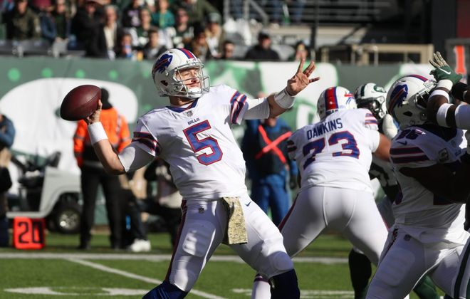 Matt Barkley is expected to see the bulk of the action at quarterback against the Jets in the regular-season finale Sunday. (James P. McCoy/Buffalo News file photo)