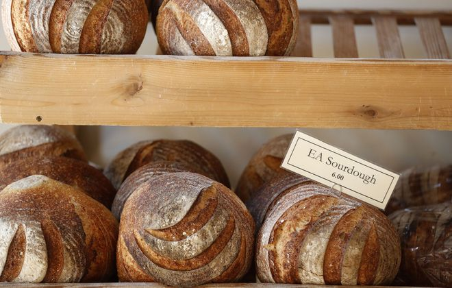 Elm Street Bakery's customers care so much about the fresh bread that a 'breadule' is posted daily in several locations. (Mark Mulville/News file photo)