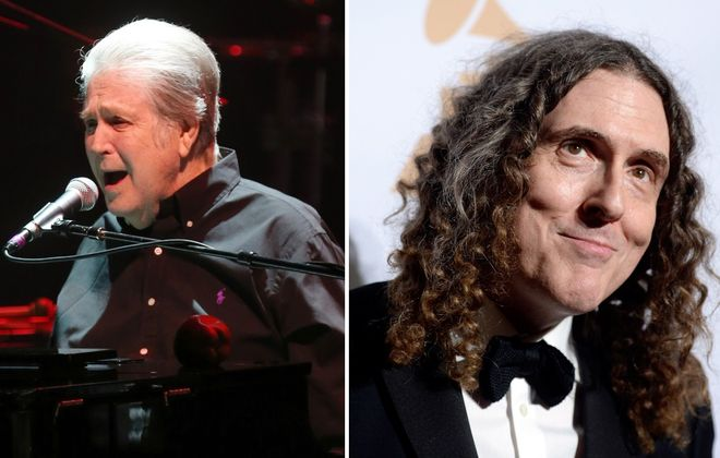 Brian Wilson, left, and Weird Al have both announced stops at Artpark in Lewiston for 2019. (Sharon Cantillon/News file photo; Getty Images for Weird Al)