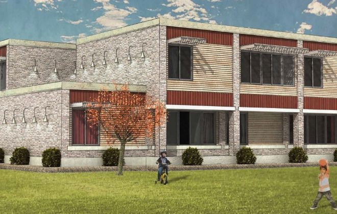 A rendering of the proposed Grant Street School Apartments, by People Inc.