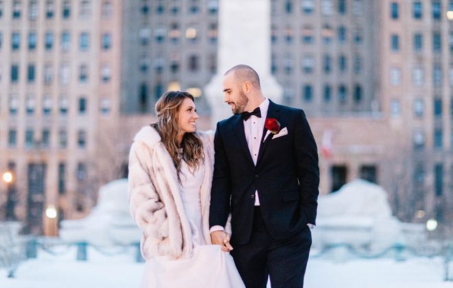 In true Buffalo fashion, it snowed the night before Erin and Parker's wedding. (Nate Puhr)