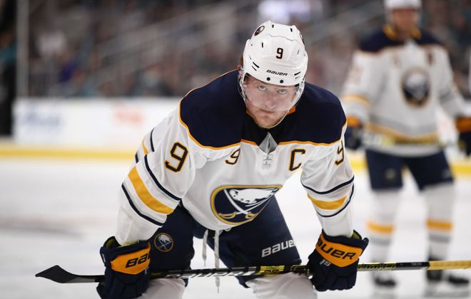 Jack Eichel and the Sabres' offense was frustrated Sunday in New York. (Getty Images).