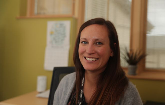 Melissa Wegst is the new program director at Aurora Village on the Horizon Village campus in  Sanborn. She says coping skills and assertiveness are key to addiction recovery. (John Hickey/Buffalo News)