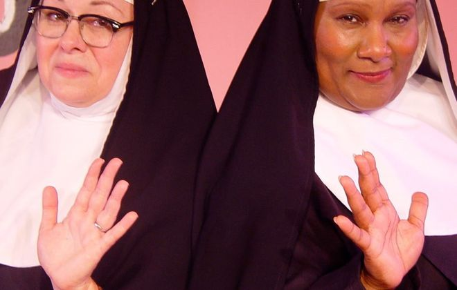 "Mary Kate O'Connell, left and Mary Craig star in ""Nuncracker: The Nunsense Christmas Musical,"" now on stage at O'Connell & Company."