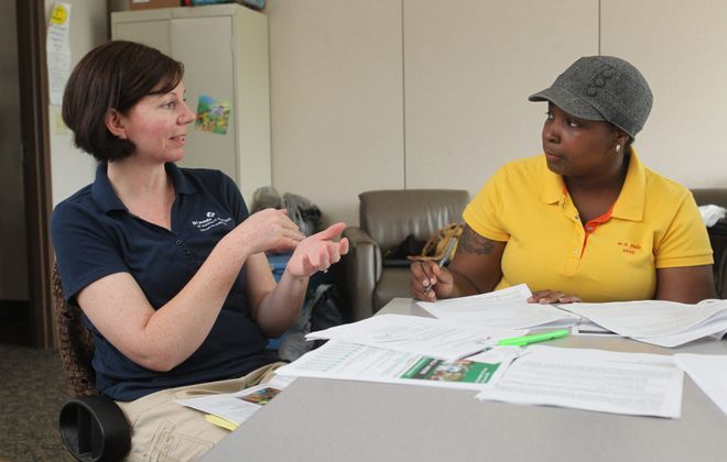 Alison Wilcox, left, will lead Girl Scouts of Western New York. (Sharon Cantillon/Buffalo News)