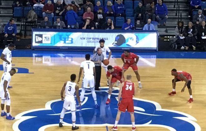 The UB men's basketball team beat Marist 76-49 Saturday in Alumni Arena. (Mark Gaughan/Buffalo News)