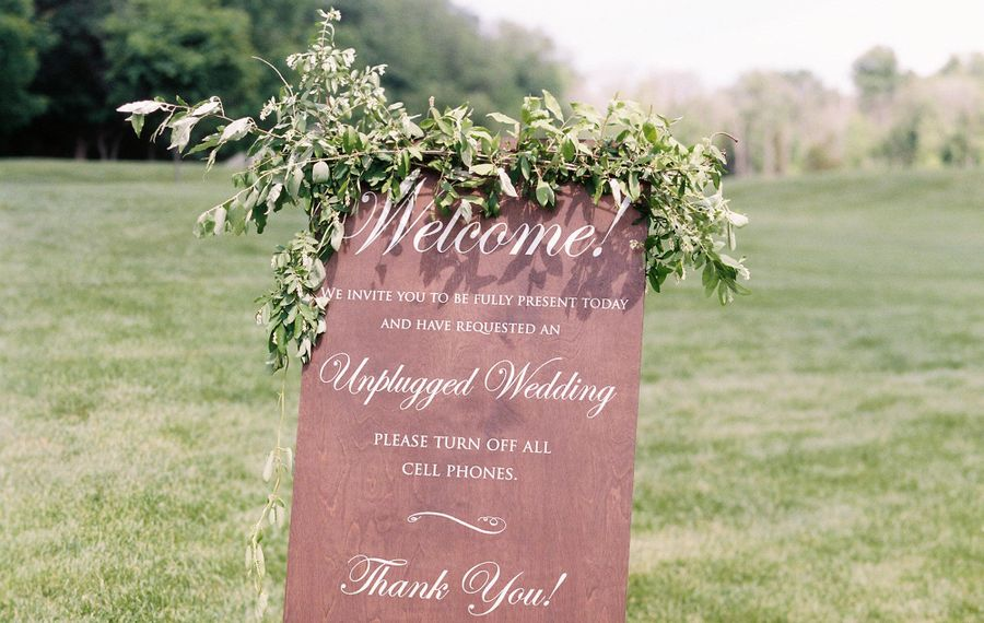 Wedding planner Karina Lyn Lopez had this sign created for one of her couples.