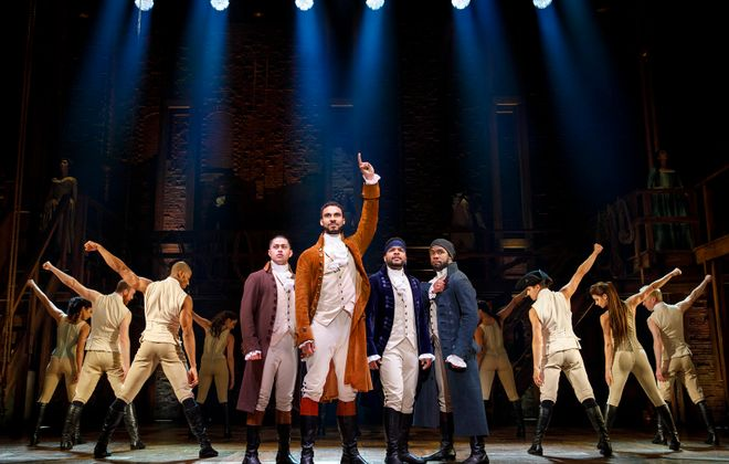 """""""Hamilton"""" returns to Shea's in a special engagement. (Photo by Joan Marcus)"""