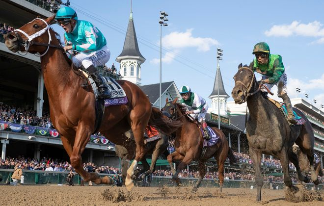 Monomoy Girl, with Florent Geroux up, won the Breeders' Cup Distaff at Churchill Downs. Photo Credit: Alex Evers/Eclipse Sportswire/Churchill Downs