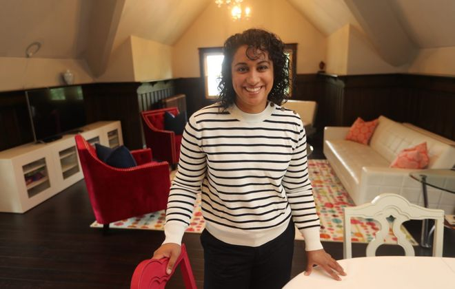 Rupinder Jatana is an Airbnb host who rents out the third floor of her home in Buffalo's Parkside neighborhood. (John Hickey/Buffalo News)