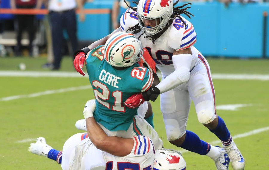 Bills linebacker Tremaine Edmunds closed out the 2018 season strong. (Harry Scull Jr./News file photo)