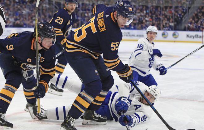 Rasmus Ristolainen said he enjoys his battles against the Leafs. (Harry Scull Jr./News file photo)