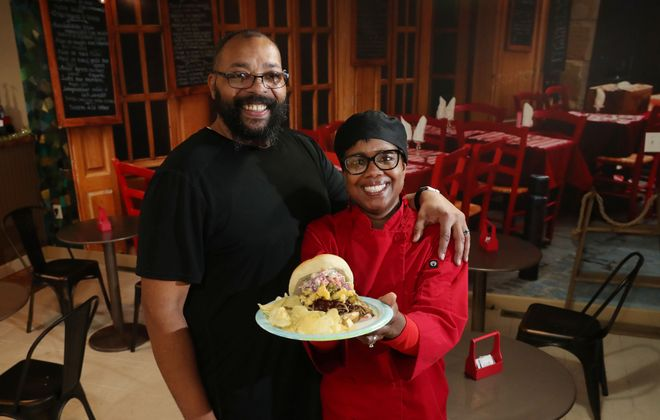 La Verdad Cafe & Deli at 1132 E. Lovejoy St. is owned and operated by Pastors Al and Vivian Robinson, who also lead Spirit of Truth Urban Ministry. (Sharon Cantillon/Buffalo News)