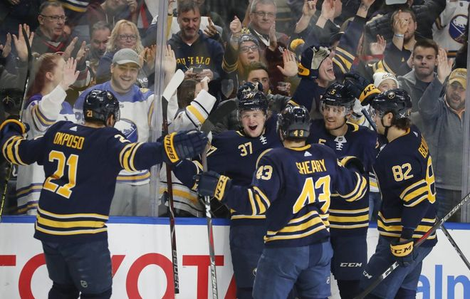 The Buffalo Sabres have won only seven of their past 23 games.  (Mark Mulville/Buffalo News)