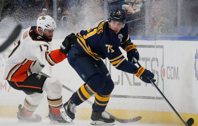 Buffalo Sabres forward Evan Rodrigues had nine goals last season. (Derek Gee/News file photo)