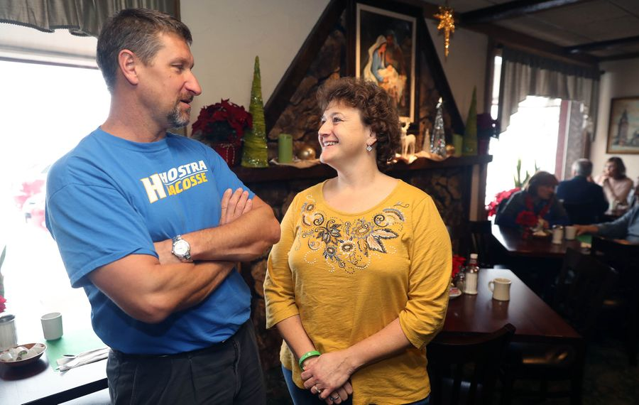 Debbie Sokolski of Elma, with her brother Dennis Braniecki of Canandaigua. (John Hickey/Buffalo News)