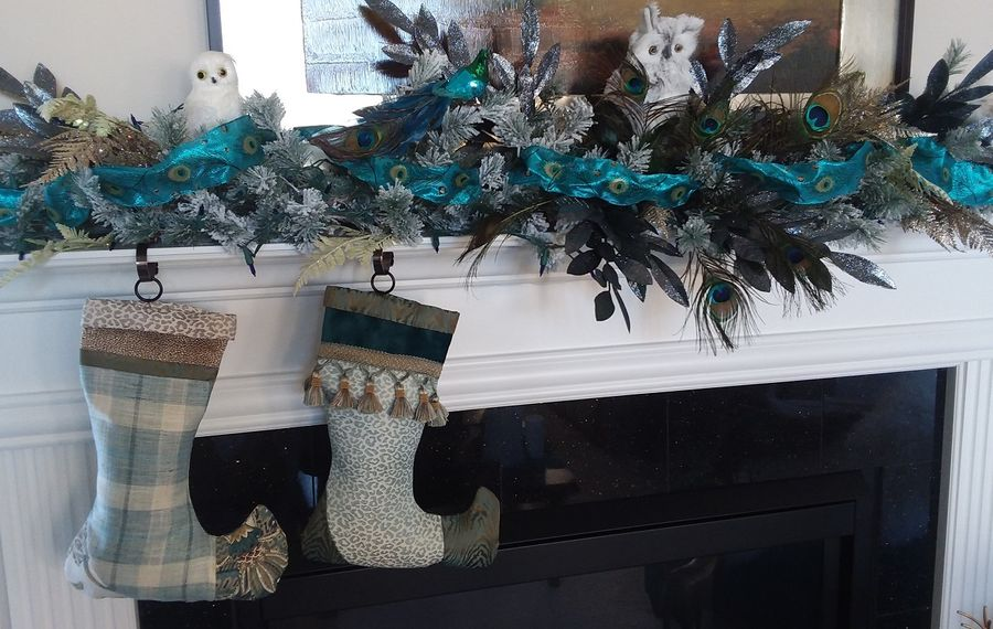 Pamela Witte made these stockings from leftover fabrics she used in her home. (Photo courtesy Pamela Witte)
