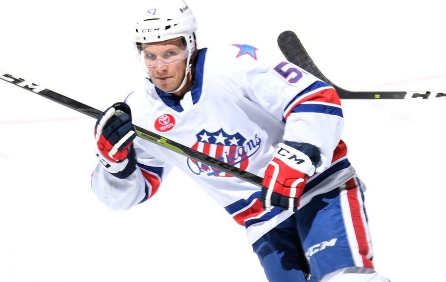 Kyle Criscuolo is back in the lineup after missing time with injury (Micheline Veluvolu/Rochester Americans)