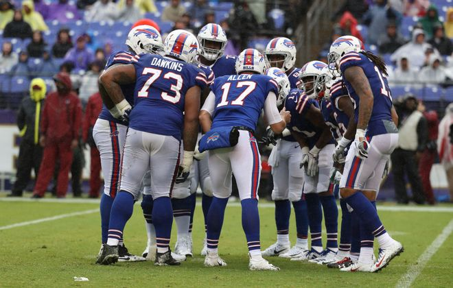 Josh Allen has come a long way since his debut with the Buffalo Bills in the 2018 season opener against the Ravens. (Getty Images)