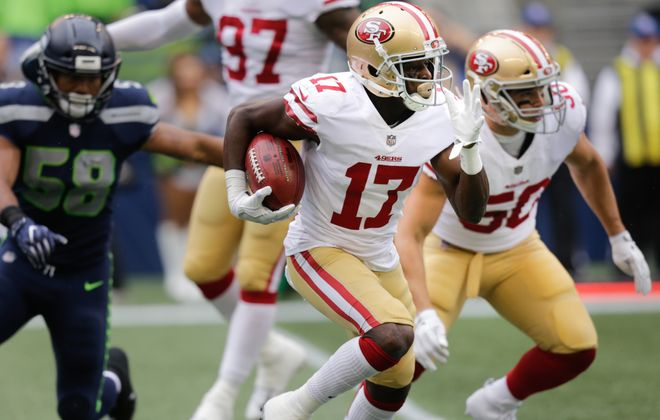 Wide receiver Victor Bolden has signed with the Bills off the 49ers' practice squad. (Getty Images)