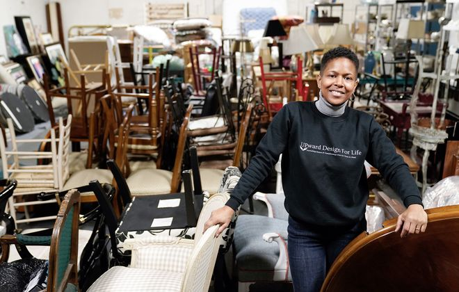 Dionne Williamson's non-profit, Upward Design for Life, moved into a 2,000-square-foot space this fall to accommodate donated furniture for the growing organization. (Dave Jarosz)