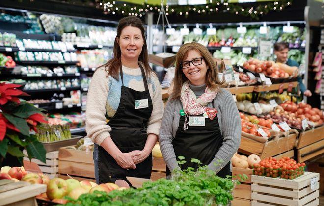 East Aurora Co-op managers Sheila Conboy (left) and Monique Brannon. (Dave Jarosz)