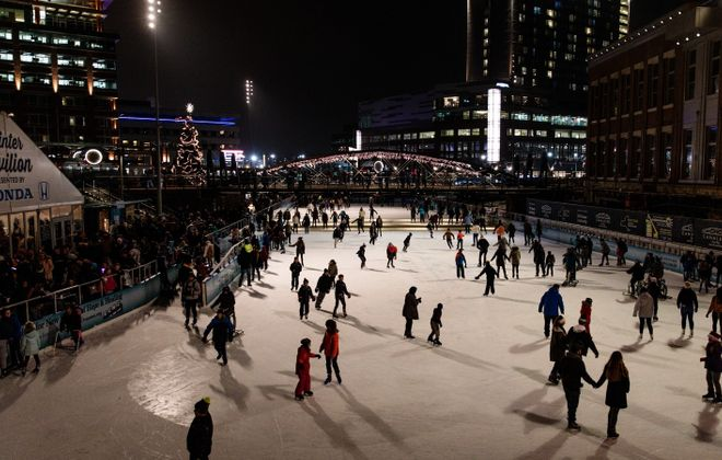 The Onesie Skate at the Ice at Canalside is a lighthearted event this week. (Jordan Oscar/Special to The News)