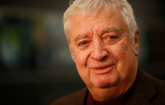 """""""I'm still here,"""" said longtime Buffalo Sabres announcer Rick Jeanneret from his hospital room Sunday morning.  (Derek Gee/News file photo)"""