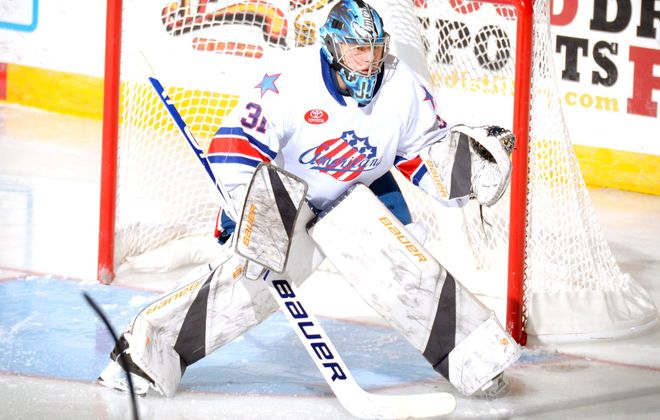 Sabres goaltending prospect Jonas Johansson is getting a look with the Amerks (Micheline Veluvolu/Rochester Americans)