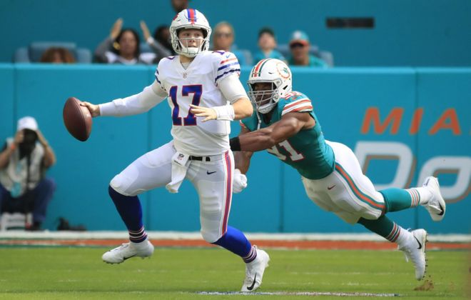 Bills quarterback Josh Allen (Harry Scull Jr./Buffalo News)