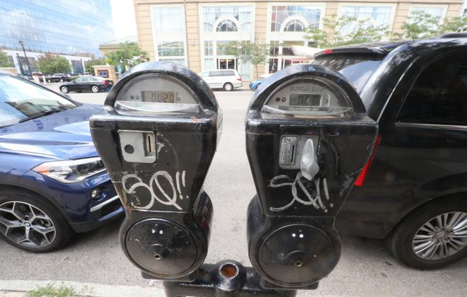 The city plans to resume parking fees next month. (John Hickey/Buffalo News)