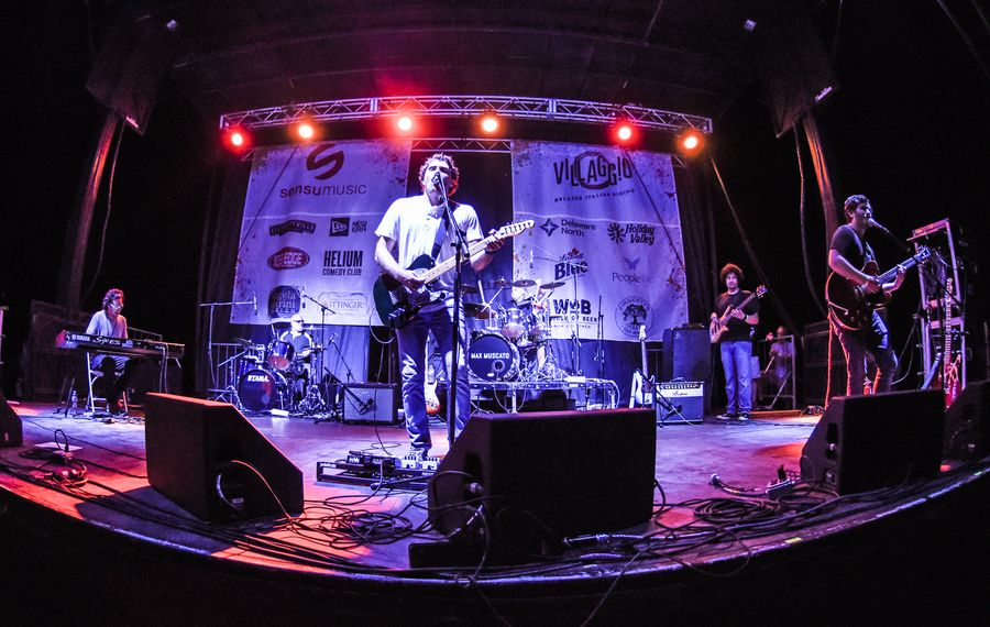 Max Muscato is seen performing at Rock Autism benefit festival. (Photo courtesy Max Muscato)