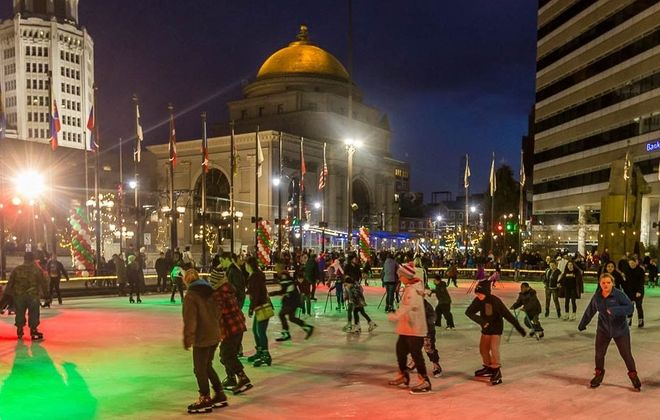 Ice skating (and falling) is a popular television holiday movie activity. (Don Nieman/Special to the News)
