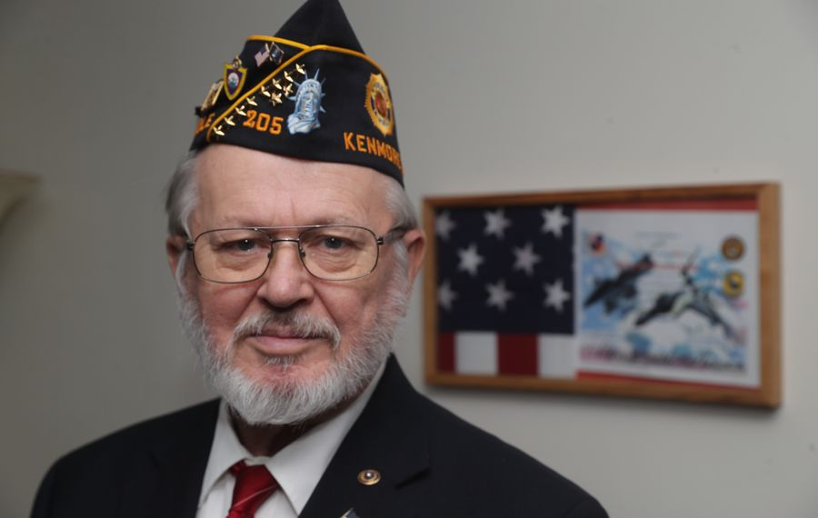 Vietnam War veteran Wayne Baumgartner, who served in the Air Force, is now vice commander of the American Legion's Milton J. Brounshidle Post No. 205 in the Town of Tonawanda. (John Hickey/Buffalo News)